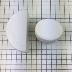 Letter P polymer clay alphabet cane tutorial - squash cylinder