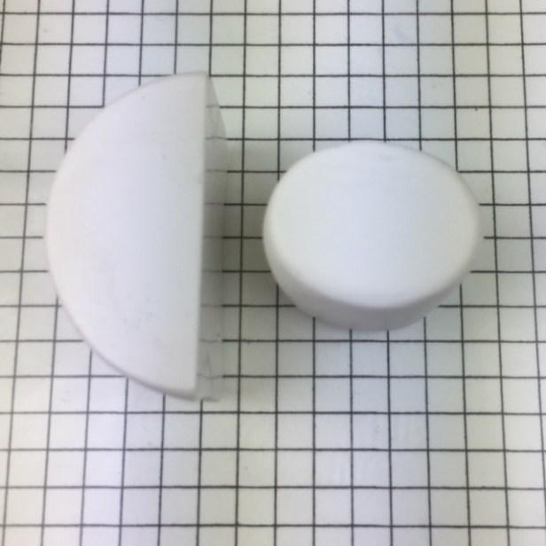 Letter R polymer clay alphabet cane tutorial - squash cylinder