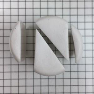 polymer clay letter N alphabet cane free tutorial - cut diagonally