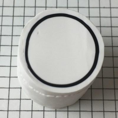 polymer clay letter O alphabet cane - step 08