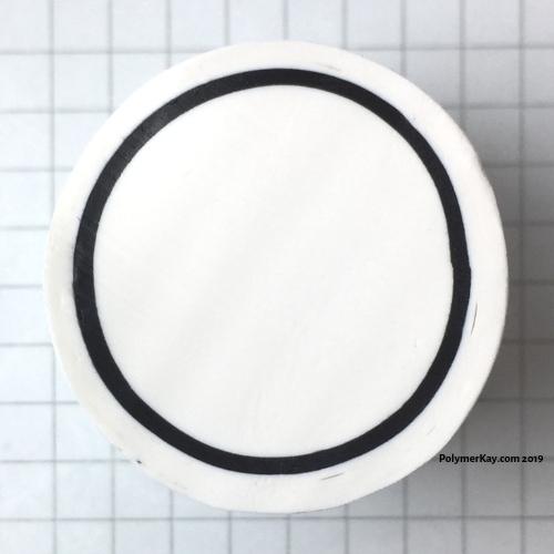 Letter O polymer clay alphabet cane tutorial - KayVincent