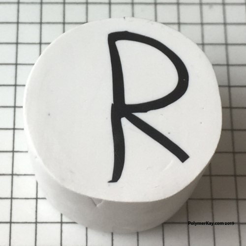Letter R polymer clay alphabet cane tutorial - KayVincent