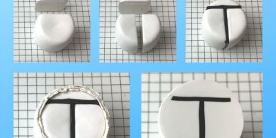 Letter T polymer clay alphabet cane tutorial graphic - KayVincent