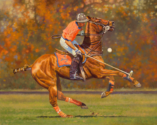 """Champagne Polo""© Kay Witherspoon, 16"" x 20"" oil on linen, - Available"