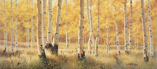 """Independence Pass Series,©Kay Witherspoon, 16"""" x 36"""", oil on canvas (SOLD), canvas giclée prints available"""
