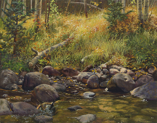 """""""Monarch  Pass Retreat"""", ©Kay Witherspoon, 11"""" x 14"""" oil on linen (SOLD) 