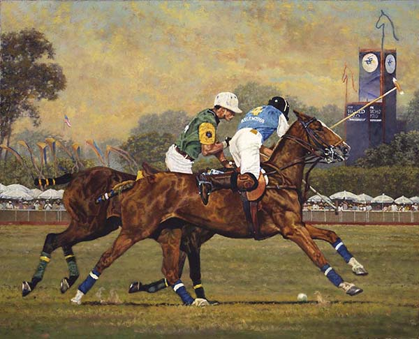 """World Champions"" © Kay Witherspoon, 18"" x 22"",  (SOLD) canvas giclée print and web-offset paper prints - Available"