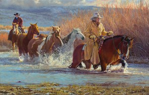 Lords of the Rockies by © K Witherspoon depicting Western cowboy art