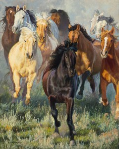 """Spring Break"" western horse painting and prints by © K Witherspoon"