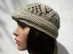 Chapeau turban en chanvre et coton