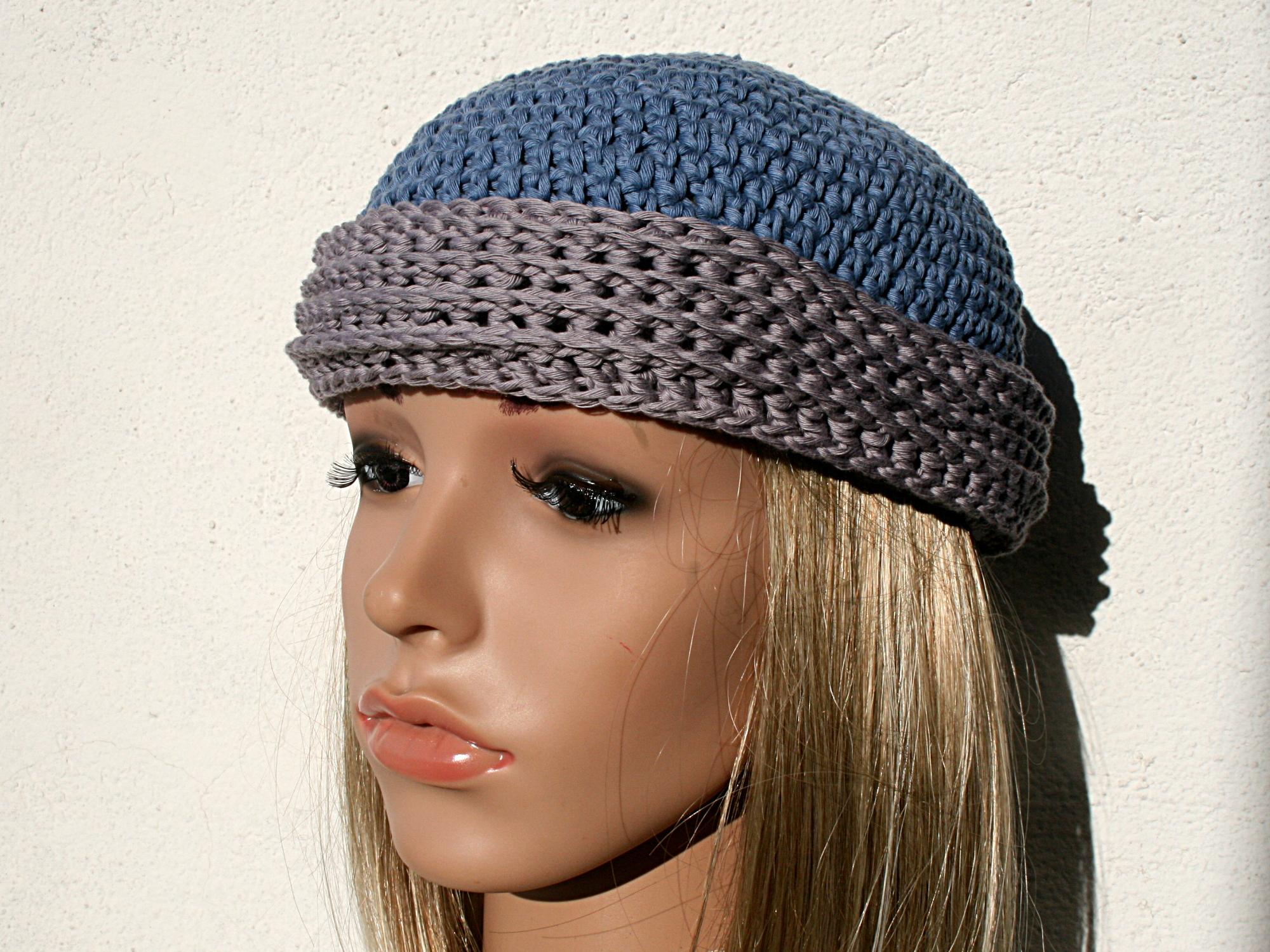 Petit bonnet au crochet, bord en côtes\u2026