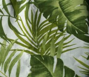 Tissus coton thème végétaux - vert