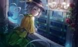 Konachan.com - 190118 flowers green_eyes green_hair hat komeiji_koishi pupil_g rose short_hair touhou