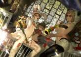 Konachan.com - 185961 animal_ears breasts brown_eyes brown_hair bunny_ears cage dahl_lange glasses league_of_legends navel short_hair sunglasses teemo