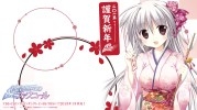 Konachan.com - 193998 gray_hair iris_freyja japanese_clothes juuoumujin_no_fafnir korie_riko long_hair yukata