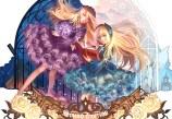 Konachan.com - 184660 2girls blonde_hair blue_eyes book dress headdress hortense hunxiao_xingshuang purple_eyes sound_horizon violette