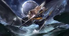 Konachan.com - 219601 alcd animal_ears armor blonde_hair flowers pixiv_fantasia sword water weapon