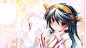 konachan-com-227923-haruna_kancolle-headdress-japanese_clothes-kantai_collection-miko-petals-red_eyes-tears-tenmu_shinryuusai-watermark