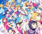 Konachan.com - 205490 ayase_eri cheerleader hoshizora_rin kantoku minami_kotori nishikino_maki scan skirt sky sonoda_umi thighhighs toujou_nozomi wink yazawa_nico