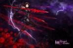 konachan-com-233164-armor-bodysuit-breasts-fate_grand_order-fate_series-gloves-headdress-kause-logo-long_hair-purple_hair-red_eyes-skintight-spear-weapon