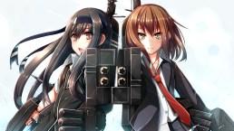 konachan-com-234677-black_hair-brown_eyes-fuuki-headband-kantai_collection-long_hair-ribbons-short_hair-skirt-tie-wakaba_kancolle