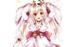 Konachan.com - 234318 animal animal_ears bell bicolored_eyes blonde_hair blush bow breasts cat catgirl choker fang lolita_fashion long_hair tagme_(artist) white yukata