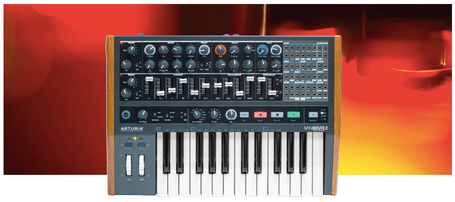 Aturua Minibrute 2 available from Kazbar Systems, the UK's premier Pro Audio Sales & Studio Installations company.