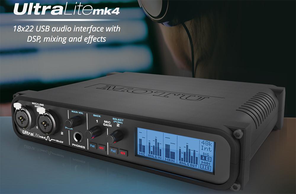 MOTU Ultralite MK4 AVB Audio Interface available from Kazbar Systems