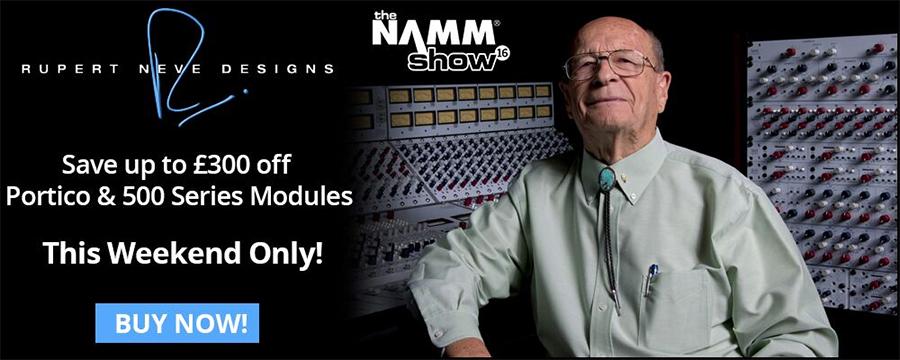 NAMM Show Rupert Neve Designs Savings From Kazbar Systems