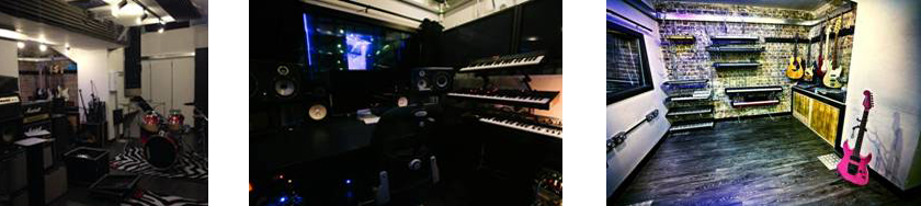 Play Deep Studios Live Room, Focal SM9's, Synths & Guitars