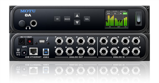 MOTU 8A available from Kazbar Systems, the UK's premier Pro Audio installation company