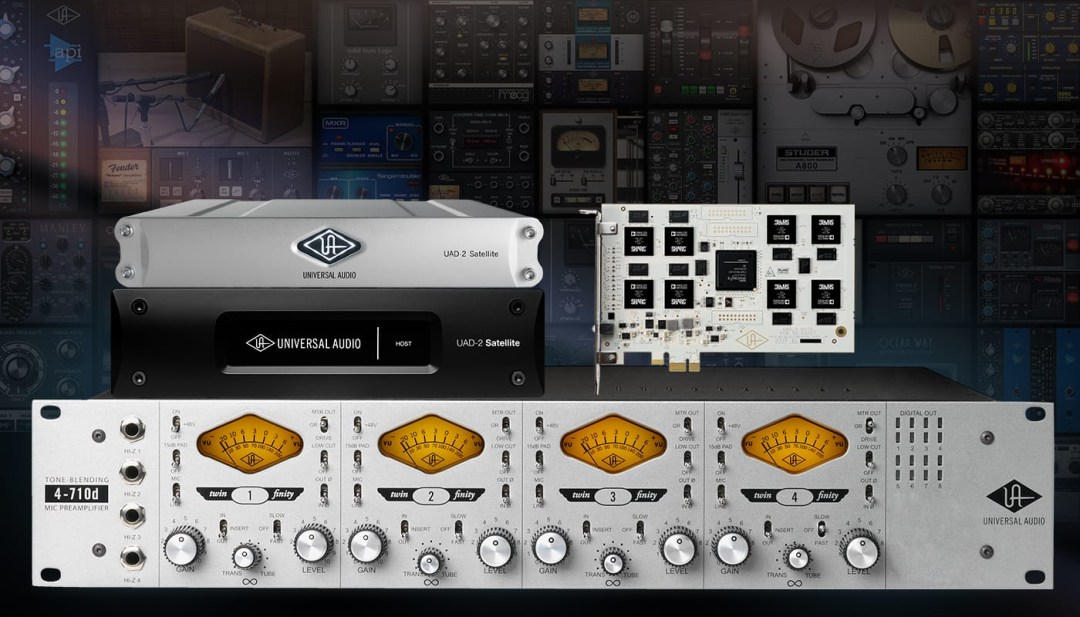 Universal Audio 4-710D Twin Finity Plus Free UAD-2 Deal from Kazbar Systems