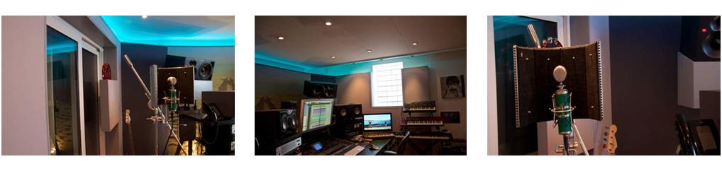 Photo collage James Reynolds recording studio studio