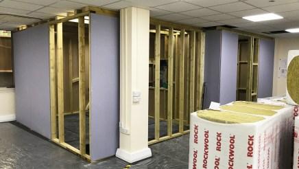 Kazbar MoCap Studio Control Room 1 construction