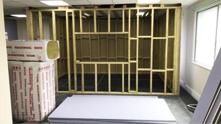 Kazbar MoCap Studio Control Room 2 Construction