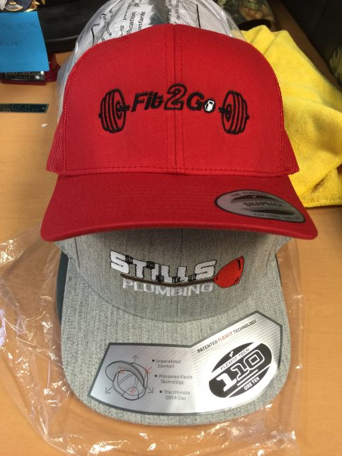 Custom embroidered hats created by Kaz Bros Design Shop