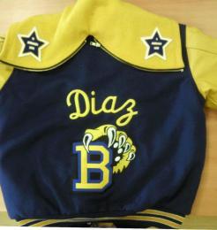 Letterman style jacket created by Kaz Bros Design Shop