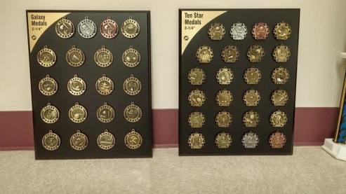 Medal examples by Kaz Bros Design Shop