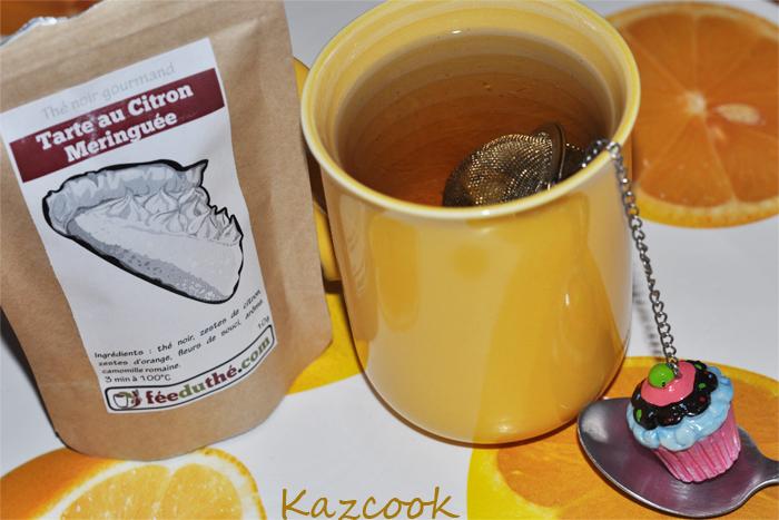 Infusion du thé noir gourmand - Tarte au citron meringuée