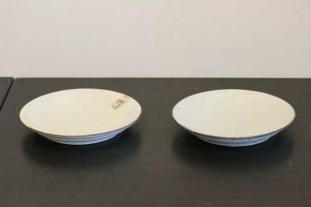 粉引 7寸リム皿(set)