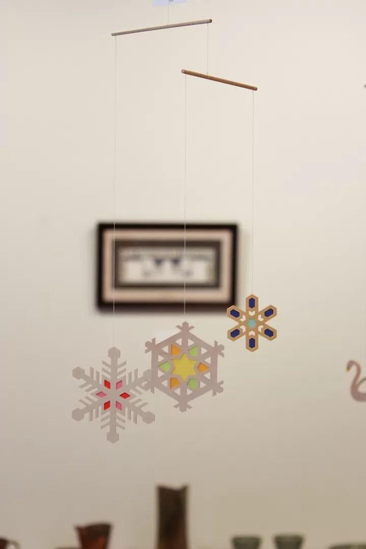 モビール「雪の結晶」