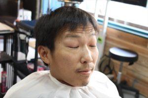 【カット前の前アングル髪型】お洒落モヒカン鹿児島美容室