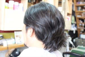 【カット前髪型左サイドバックアングル】深夜まで営業している天文館・鹿児島中央駅近くの美容室