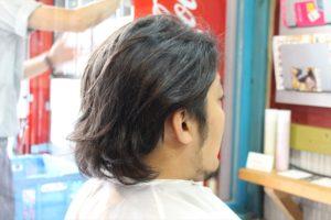 【カット前髪型右サイドバックアングル】深夜まで営業している天文館・鹿児島中央駅近くの美容室