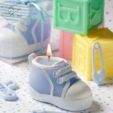 baby shoes candle