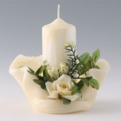 bougie fleur blanche