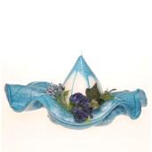 fleur de table long bleue