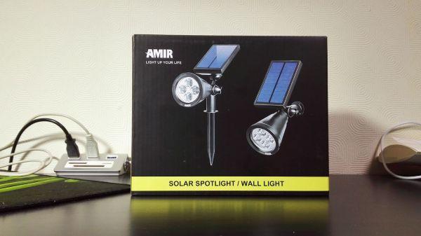 Amir® ソーラーライト ガーデン 夜間自動点灯 LEDライト 屋外 室外 室内 防水 ワイヤレス 壁掛け 埋め込み 両用