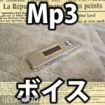 【mp3 & ボイスレコーダー】小型タイプの激安レコーダー!音楽再生もGood!