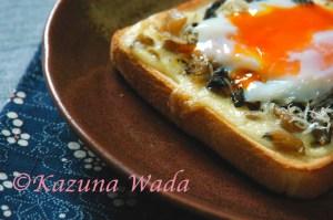 しらすと野沢菜の和風トースト